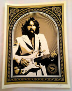George Harrison Gold Beatles Friendship Shepard Fairey Obey Giant Sold Out
