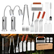 Bbq Grill Tools Set Stainless Steel Barbecue Utensils Kit Camping Cooking Lights