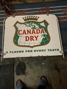 1960's Canada Dry Sign Double Sided