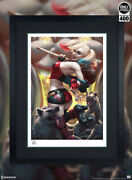 Harley Quinn Hell On Wheels Art Print By Sideshow Collectibles / Framed Black