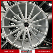 22x9.5 Gianelle 5lug Wheel And Tire Package Silver Machine