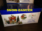 Department 56 Snow Village Silver Bells Christmas Shop Gift Set 55040 Retired