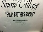 Department 56 Snow Village Holly Brothers Garage 54854 Retired