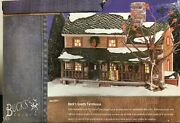 Department 56 Snow Village Buckand039s County Farm House Retired 2002 55051