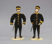 Japanese Tradition Antique Meiji Japanese Army Artillery Doll Soldier Uniform Y