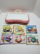 Little Touch Leap Pad Pink With 6 Books And Cartridges Tested And Works