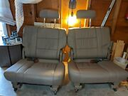 2000-2007 Oem Toyota Sequoia Gray 3rd Row Folding Leather Seats Best Available