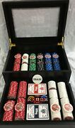 Las Vegas Classics Poker Set With Dice, Cards And Chips With Case