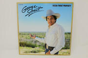 George Strait Signed Autograph Album Vinyl Record - Ocean Front Property Country