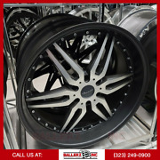 24x10 Giovanna 6x5.5 Wheel And Tire Package Matte Black Machined