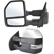 Towing Mirrors For 2015-2020 Ford F150 Power Heated Signal W/sensor Chrome 8 Pin