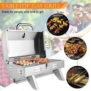 12000 Btu Tabletop Gas Propane Grill Stainless Steel Bbq Camping Picnics Burner