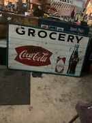 1950s Coke Sign 1953andrsquo Official Coca Cola Sign Huge Grocery Store Sign.