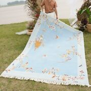 Yilong 6and039x9and039 Blue Warm Soft Hand Knotted Chinese Art Deco Wool Rug Porch Carpet