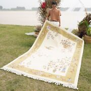 Yilong 6and039x9and039 Foyer Hand Knotted Chinese Wool Rug Beige Bedroom Area Carpets