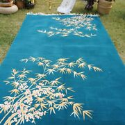Yilong 6and039x9and039 Bamboo Design Hand Knotted Chinese Art Deco Wool Rug Warm Carpet