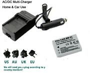 Battery+charger For Canon Nb-5l Powershot Sd700 Sd790 Sd800 Sd850 Sd870 Sd880 Is