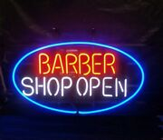 Barber Shop Open 24x16 Neon Sign Wall Store Light Lamp With Dimmer