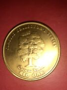 Classic Collectors Series Woodworkers Journal Bronze Coin Quercus Rubya Red Oak