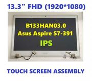 Acer Aspire S7-391 Fhd Ips 13.3 Lcd Touch Screen Complete Assembly