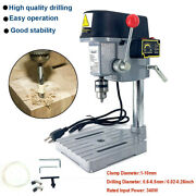 Rotary Pillar Drill Press Bench Top Mounted Drilling Machine Speed 1-10mm 110v