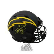 Joey Bosa Bolt Up Autographed Chargers Eclipse Authentic Full-size Helmet - Bas
