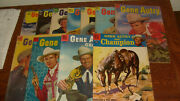 12 Vintage Dell Gene Autry Comics Vg And Vg+
