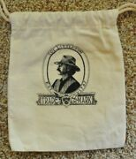 Colonel Littleton Drawstring Monogrammed Cloth Canvas Bag Made In Usa