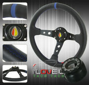 For 92-96 Prelude Interior Set Up - Steering Wheel + Hub Adapter + Horn Button