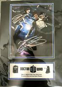 Doctor Who Signed By Matt Smith And Karen Gillan 13 Series Matted With Coa