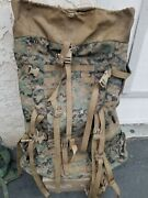 Military Usmc Marpat Large Ilbe .large Field Back Pack.with A Frame