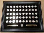 12x16 Black Display Frame For The 50 State Quarters Coins Not Included