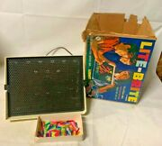 Vintage 1967 Hasbro Lite Brite With Color Pegs And Box