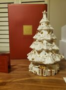 Exquisite Lenox China Andlsquotwas The Night Musical Christmas Tree Retired