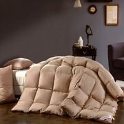 Snowman Luxurious Goose Down Comforter King Size 100 Cotton Shell With Corner T