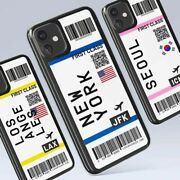 Flight Tickets Designed Silicone Cellphone Case For Iphone 11 Pro Max Soft Cover