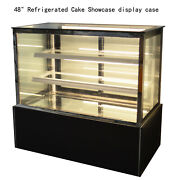 High Quality New 220v 48 Refrigerated Cake Showcase Display Case Floor Type