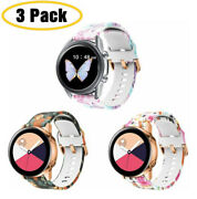 3 Packs Silicone Sport Strap Watch Band For Samsung Galaxy Watch Active 2 40/44m