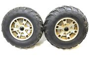 2008 Can Am Outlander 400 Xt Front Wheels Rims Pair Parts Only