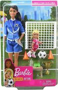 Barbie Soccer Coach Playset W/ Brunette Soccer Coach Doll And Student Doll New