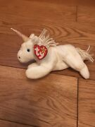 Retired Ty Beanie Baby - Mystic The Unicorn With Tag - 1993-1994