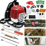 52cc 6 In 1 Petrol Hedge Trimmer Grass Strimmer Pruner Chainsaw Brush Cutter Usa
