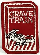 Grave Train Wacky Packages Vintage Cloth Fabric Embroidered Patch Topps 1970s