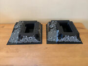 Lot Of 2 Lego Vintage Raised Base Plate Plates Craters Ramp 2552 Black 32x32