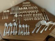 Authentic S. Kirk And Son Sterling Silver Repousse Flatware - 76 Pieces - Euc