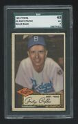 Andy Pafko 1952 Topps 1 Sgc Graded 40  Very Nice Looking Card All Around Rare