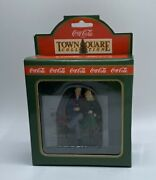 Vintage Coca-cola Town Square Collection Time Together Couple On Bench 64336