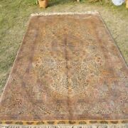 Yilong 5and039x8and039 Easy To Clean Hand Knotted Silk Carpet Golden Area Rugs 1004