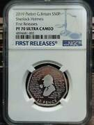 Uk 2019 Great Britain Piefort Sherlock Holmes Silver Coin S50p Ngc Pf70 Uc