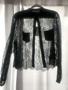 Givenchy Sheer Lace Blouse Size 40